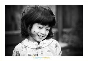 turn away smile- child
